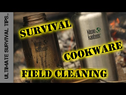 Quick Tip - Field Clean Charred Cookware WITHOUT Soap - Easy Camp / Survival Cookware Clean Up!