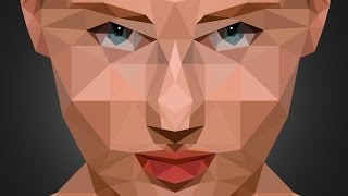 Low Poly Portrait effect | Photoshop Tutorial | Photo effects