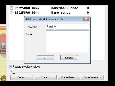 pokemon red rare candy cheat code