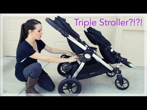 Our Triple Stroller Glider Board Attachment For The Baby
