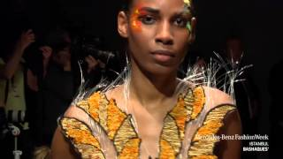 Bashaques wearable art marcedes benz fashion week