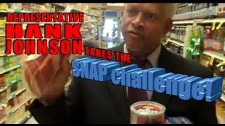 Rep Hank Johnson Grocery Shopping for the SNAP challenge!!