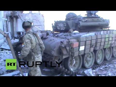 Ukraine: Destroyed plane, tanks litter Donetsk airport
