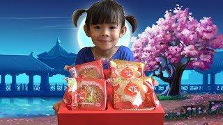 Siêu Nhân Tân An Đi Mua Và Thưởng Thức Bánh Trung Thu ❤ AnAn ToysReview TV ❤