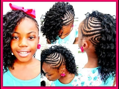 CROCHET BRAIDS: Side Mohawk! (Slow motion)