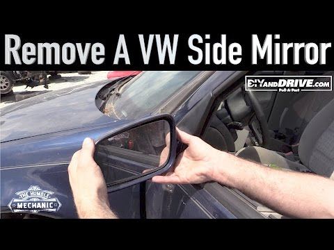 How To Remove a VW Side Mirror ~ Salvage Yard Tips