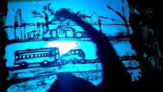 Pulwama terrorist attack to Crpf jaban Sand animation by BIDYA POINT