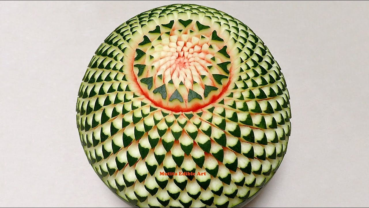 Easy Watermelon Carving Watermelon Beautiful C...