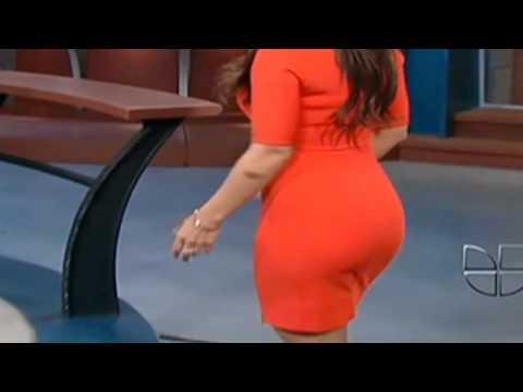 Jackie Guerrido culazo vestido rojo