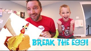 Father & Son PLAY SQUAWK! / Egg Explosion Game!