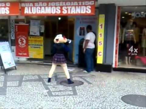Magaly dance iamamiwhoami U-2 on Largo Da Carioca Velemem in Brazil