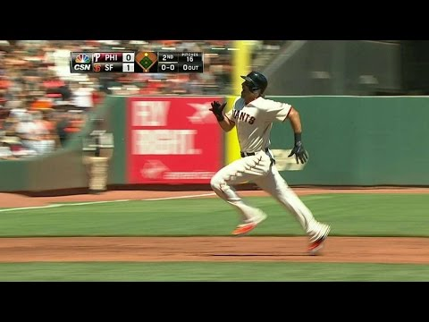 PHI@SF: Morse races into third for a triple