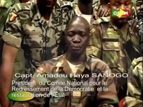 Amadou Haya Sanogo, President du CNRDRE, Coup d'Etat - Mali 22/3/2012
