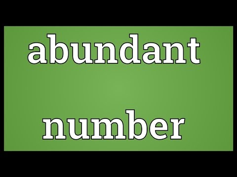 Header of Abundant Number