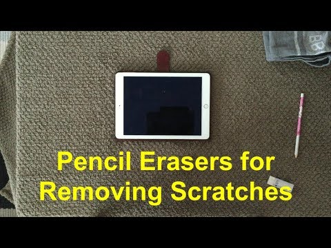 Removing Scratches From The Glass Of An iPad (Any Device) With Pencil Eraser
