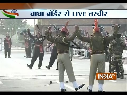 Live: Beating Retreat Ceremony Held At Wagah Border - India Tv video