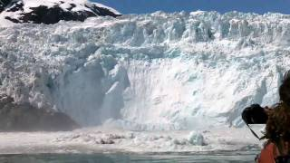 Glacier Calving, Huge Wave