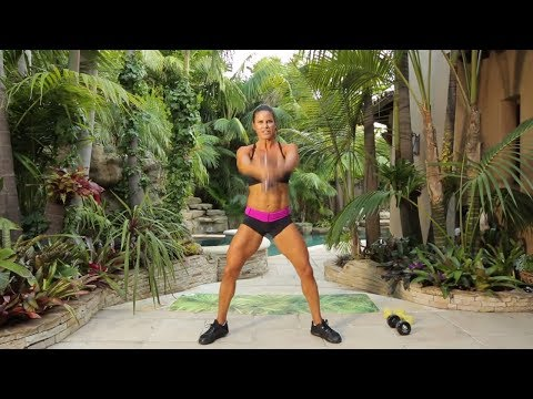 30 Min Total Body Intermediate Interval Workout with Dumbbells Image 1