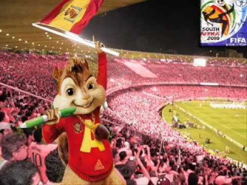 alvin y las ardillas sube la mano y grita gol