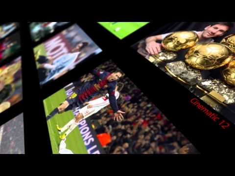 Video wall Leonel Messi by depoortes.com