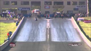 ANDRA Drag Racing - Chris Matheson Top Bike crash