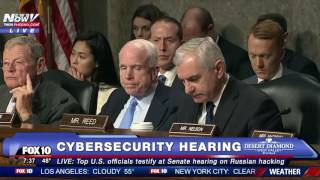 FNN: Senate Hearing on Russian Hacking - Intelligence Officials TESTIFY (incl. DNI Clapper)