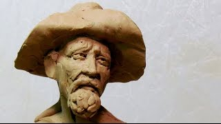 Sketch of a Frontiersman Plasticine Clay Bust Today