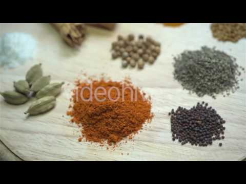 South Asian Spices - Stock Footage | VideoHive 15383340