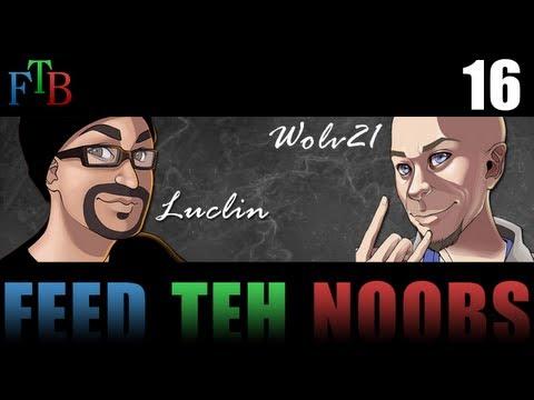 16 FTB - Feed Teh Noobs: Falling Magma Cubes .. 2000th video