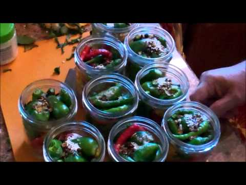 Pickled Peppers Infused With Olive Oil ~ Delicious !