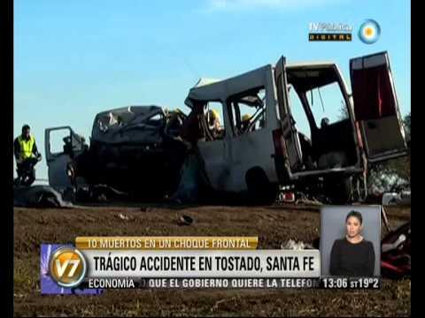 Visión 7: Al menos diez muertos, en su mayoría maestras, en el trágico accidente en Santa Fe