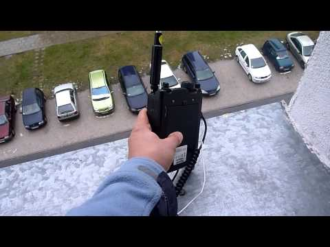 QRP QSO SQ7MZF QRP G4VSJ mobile 17 m telescopic whip antenna