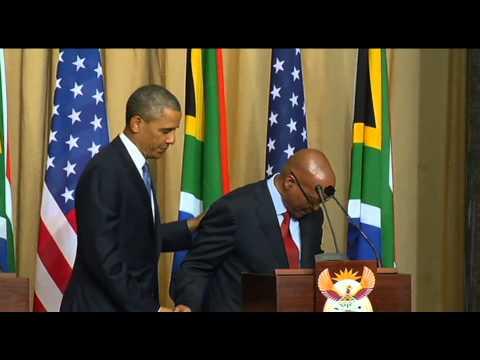 President Barack Obama visits South Africa