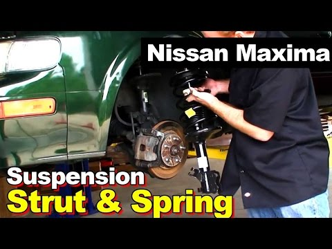 Front Complete Strut With Coil Springs Replacement. Nissan Maxima