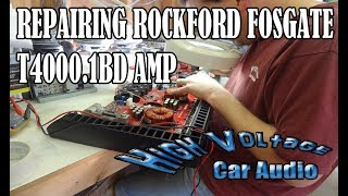 18KW TAHOE - ROCKFORD T4K AMP BLOWN AND REPAIRED