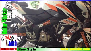 Pulsar 200ns | bajaj pulsar 200 ns modified sticker
