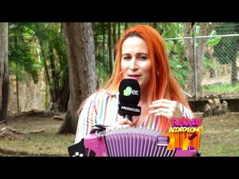 DANIA MARÍA VERGARA EN FIESTA DE ACORDEONES