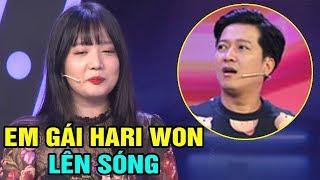 Em gái ruột Hari Won lần đầu lên sóng truyền hình đã bị Trường Giang 'bă't nạt' - TIN TỨC 24H TV