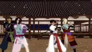 【犬夜叉MMD】七人隊の千本桜【主に四骨】