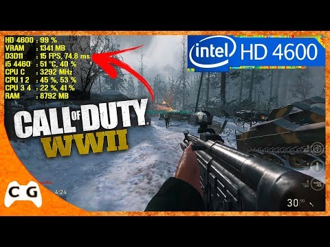 Call of Duty: WWII Gameplay Teste Intel HD Graphics - Roda em PC Fraco ? #412