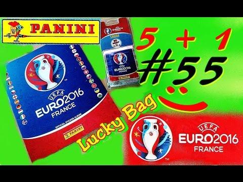PANINI UEFA EURO 2016 FRANCE new OFFICIAL STICKER ALBUM EM Frankreich new UNBOXING 5+1 Aufkleber #55