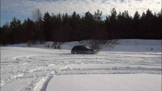 2.Subaru Outback and Audi A6 Winter Off Road (Bolderai)