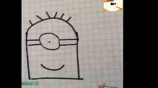 How to draw a minion w/ Magic Art 123