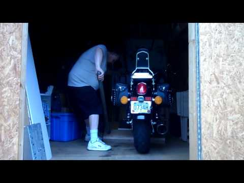 Home made motorcycle lift