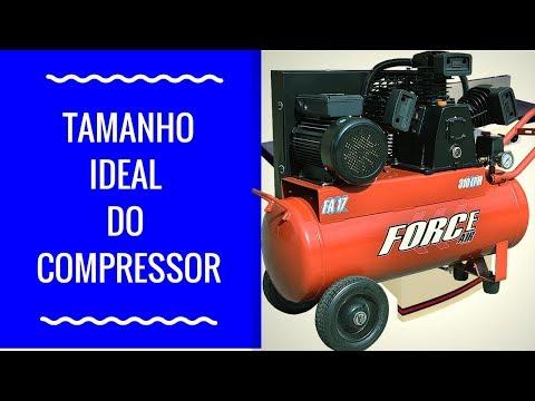 Tamanho ideal do compressor para sua oficina