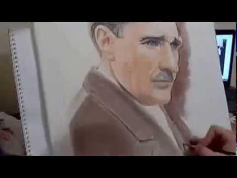 Seramik Üzerine Atatürk Portresi Çizimi (Hikmet Koyuncu Usta)