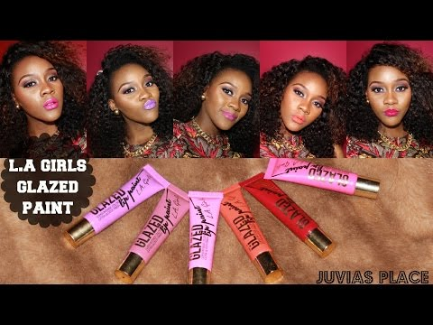 L.A Girls Glazed Lip Paint Review from Juvias Place & Giveaway