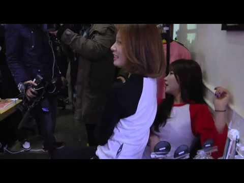 131224 Jiyeon Soyeon T-ara - Sitting on lap