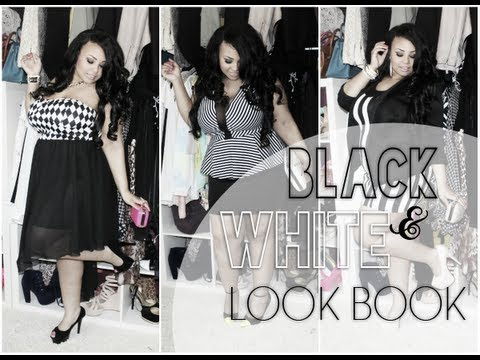PLUS SIZE BLACK & WHITE DRESS LOOK BOOK | FT AMICLUBWEAR +