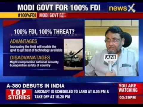 DIPP proposes 100% FDI in Defence sector